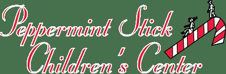 Peppermint Stick Childrens Center Logo White